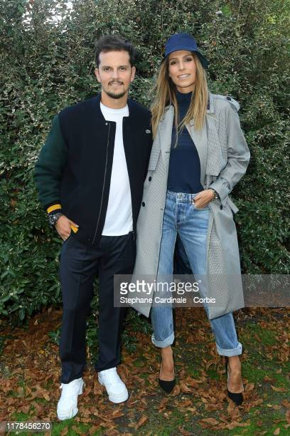 Juan Arbelaez and Laury Thilleman attend the Lacoste Womenswear Spring/Summer 2020 show as part of Paris Fashion Week on October 01 2019 in Paris...