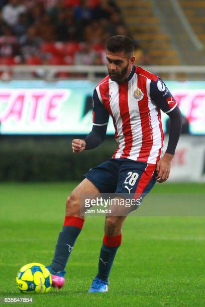 Juan Basulto of Chivas drives the ball during the 4th round match between Chivas and Venados as part of the Torneo Clausura 2017 Copa MX at Chivas...