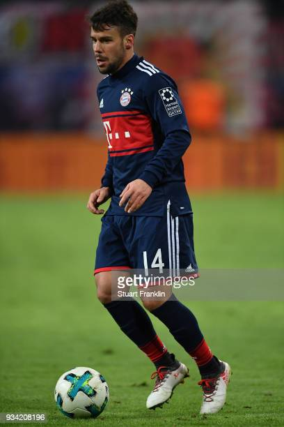 Juan Bernat of Bayern in action during the Bundesliga match between RB Leipzig and FC Bayern Muenchen at Red Bull Arena on March 18 2018 in Leipzig...