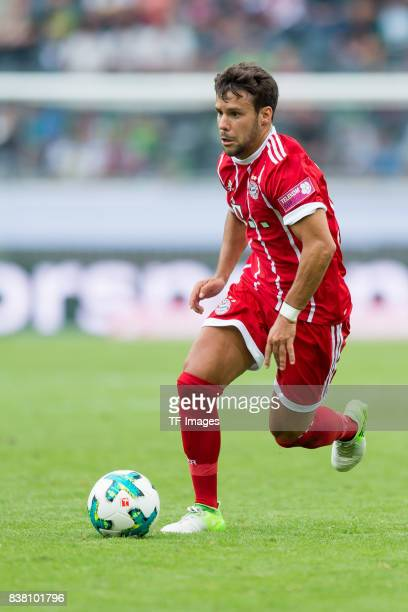 Juan Bernat of Bayern Muenchen controls the ball during the Telekom Cup 2017 Final between SV Werder Bremen and FC Bayern Muenchen at Borussia Park...
