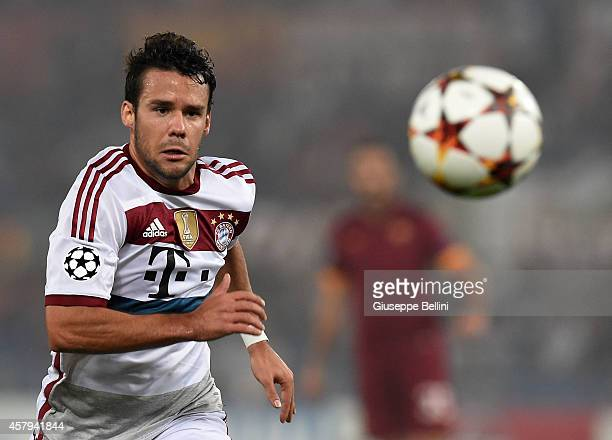 Juan Bernat of FC Bayern Muenchen in action during the UEFA Champions League match between AS Roma and FC Bayern Muenchen at Stadio Olimpico on...