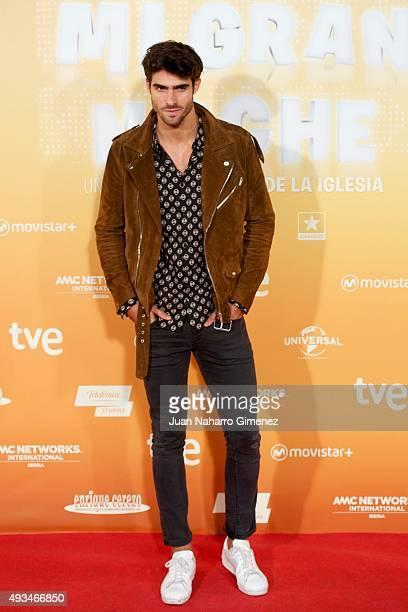 Juan Betancourt attends 'Mi Gran Noche' premiere at Kinepolis Cinema on October 20 2015 in Madrid Spain