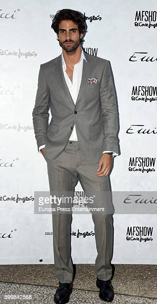 Juan Betancourt poses during the photocall of Emidio Tucci Fashion Show at Costume Museum on September 6 2016 in Madrid Spain