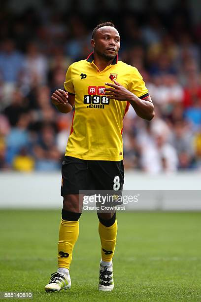 Juan Camilo Zuniga of Watford during the pre season friendly match between Queens Park Rangers and Watford at Loftus Road on July 30 2016 in London...