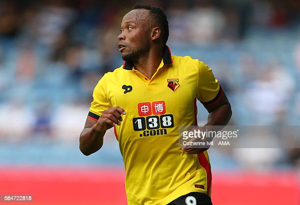Juan Camilo Zuniga of Watford during the PreSeason Friendly match between Queens Park Rangers and Watford at Loftus Road on July 30 2016 in London...