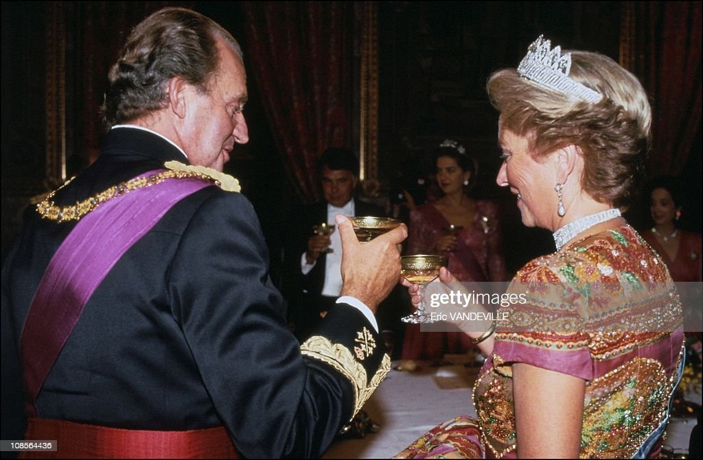 The evening for Albert and Paola in Madrid, Spain on September 20th, 1994. : News Photo