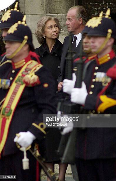 Juan Carlos and Queen Sofia of Spain depart following the funeral of Prince Claus October 15 2002 in Delft Netherlands The 76yearold husband of Queen...