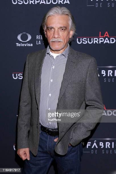 Juan Carlos Barreto poses for photos during a red carpet of premiere 'La Usurpadora' Tv Screening soap opera at Club de Banqueros on August 29 2019...