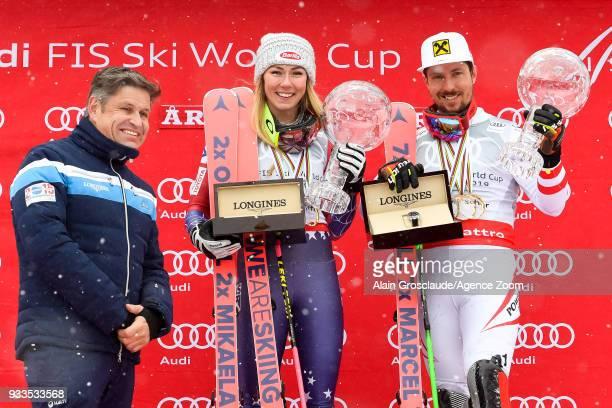 Juan Carlos Capelli Mikaela Shiffrin of USA wins the globe in the overall standings Marcel Hirscher of Austria wins the globe in the overall...