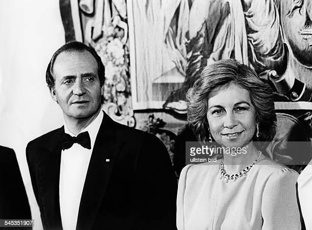 Juan Carlos I *König von Spanien 1975mit Königin Sophia 1986