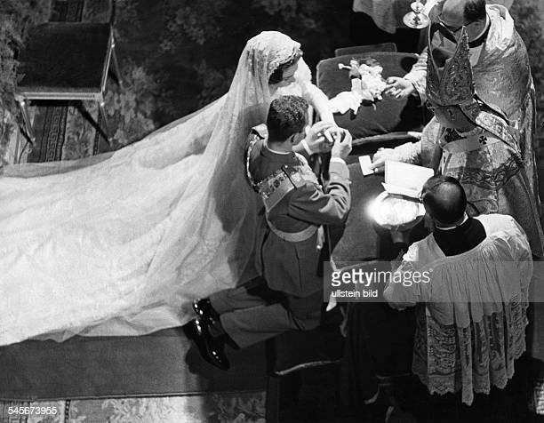 Juan Carlos I *König von Spanien 1975Trauung mit Prinzessin Sophia von Griechenland in Athen nach römischkatholischem Ritus Mai 1962