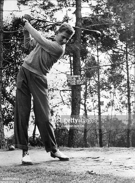 Juan Carlos I *König von Spanien als Kronprinz beim Golfspielen 1955