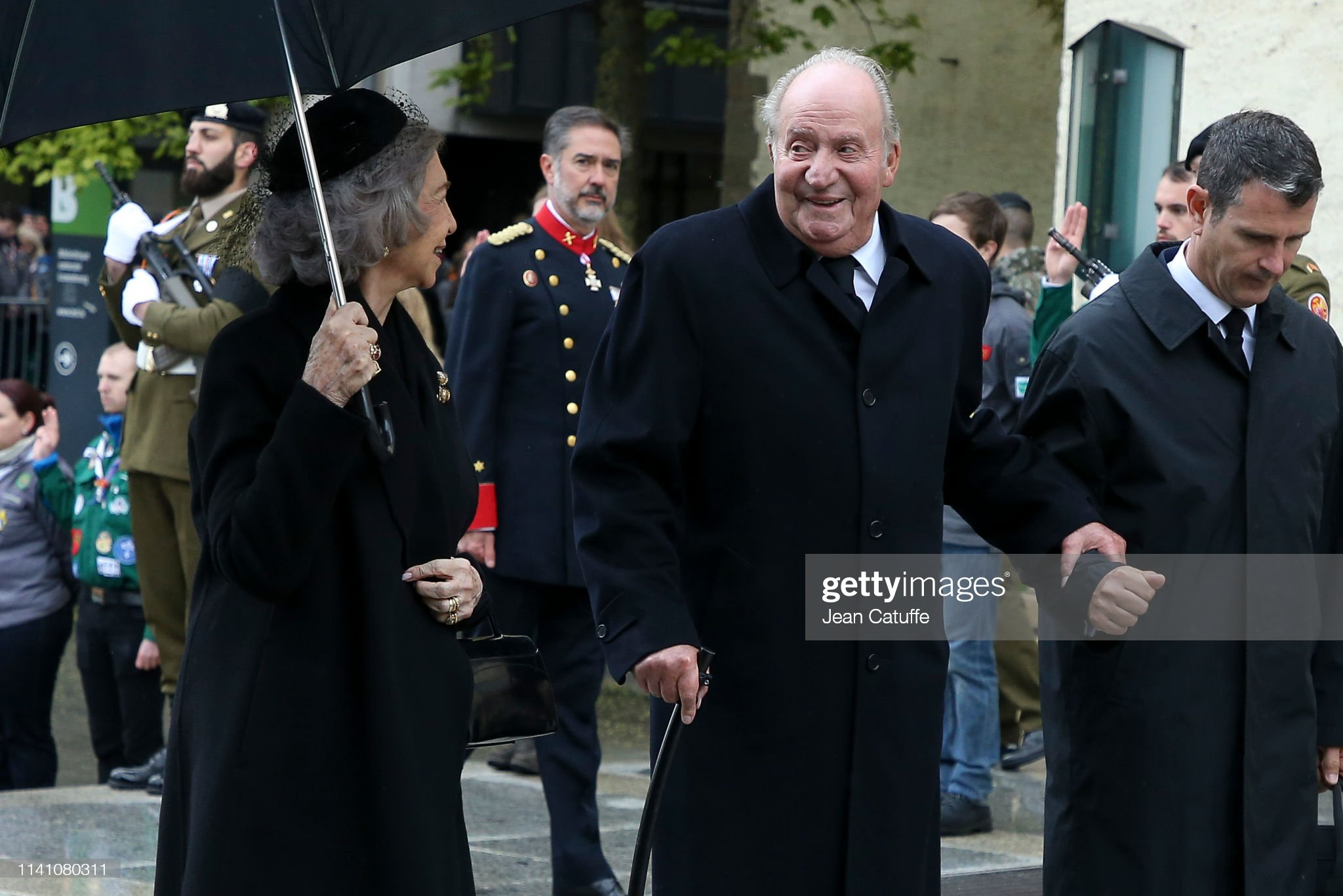Похороны Великого Герцога Жана https://media.gettyimages.com/photos/juan-carlos-i-of-spain-and-queen-sofia-of-spain-arrive-for-the-of-picture-id1141080311?s=2048x2048