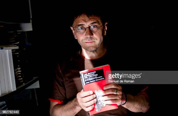 Juan Carlos Monedero attends during the book fair in Madrid on May 26 2018 in Madrid Spain