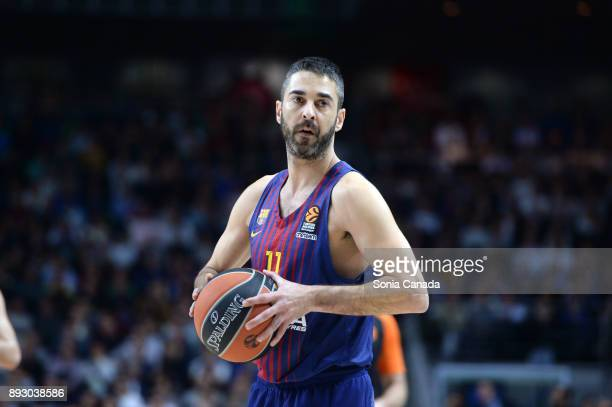 Juan Carlos Navarro #11 guard of FC Barcelona Lassa during the 2017/2018 Turkish Airlines Euroleague Regular Season Round 12 game between Real Madrid...