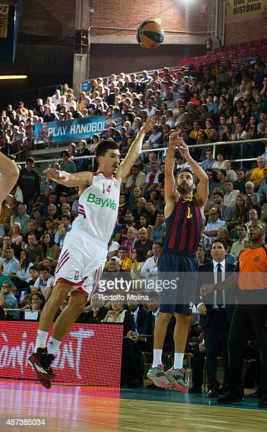 Juan Carlos Navarro #11 of FC Barcelona in action during the 20142015 Turkish Airlines Euroleague Basketball Regular Season Date 1 between FC...