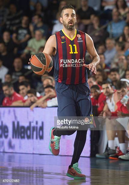 Juan Carlos Navarro #11 of FC Barcelona in action during the 20142015 Turkish Airlines Euroleague Basketball Play Off Game 2 between FC Barcelona v...
