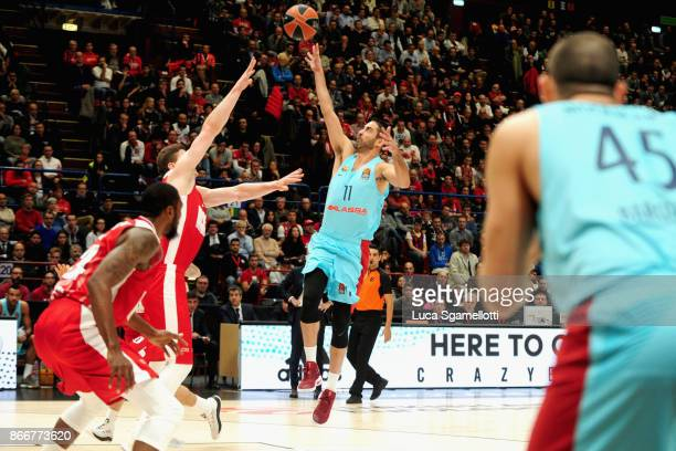 Juan Carlos Navarro #11 of FC Barcelona Lassa in action during the 2017/2018 Turkish Airlines EuroLeague Regular Season Round 4 game between AX...