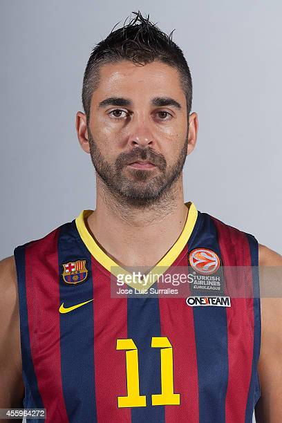 Juan Carlos Navarro #11 of FC Barcelona poses during the FC Barcelona 2014/2015 Turkish Airlines Euroleague Basketball Media Day at Ciutat Esportiva...