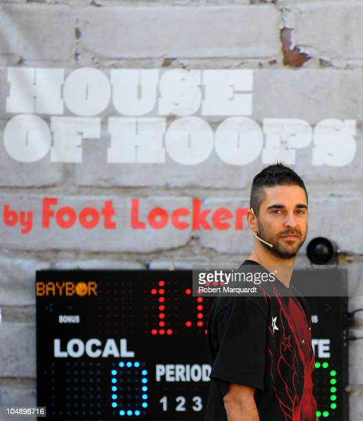 Juan Carlos Navarro attends the 'House of Hoops' contest by Foot Locker on October 6 2010 in Barcelona Spain