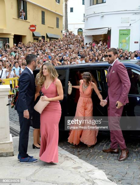 Juan Carlos Navarro Catherine McDonnell Cristina Blesa and Marc Gasol attend the wedding of baskettball player Sergio Llull and Almudena Canovas on...