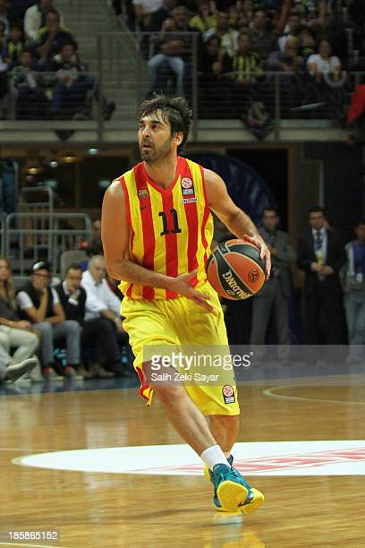 Juan Carlos Navarro of FC Barcelona in action during the 20132014 Turkish Airlines Euroleague Regular Season Date 2 game between Fenerbahce Ulker...
