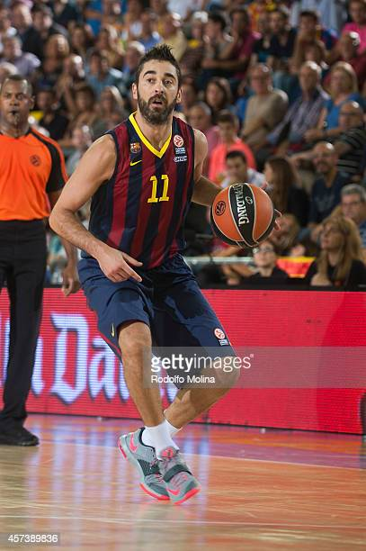 Juan Carlos Navarro of FC Barcelona in action during the 20142015 Turkish Airlines Euroleague Basketball Regular Season Date 1 between FC Barcelona v...