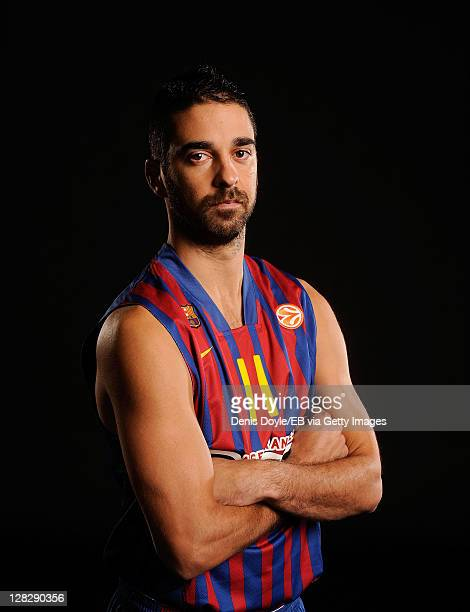 Juan Carlos Navarro of FC Barcelona Regal is photographed during the Euroleague Basketball Media day on October 4 2011 in Barcelona Spain