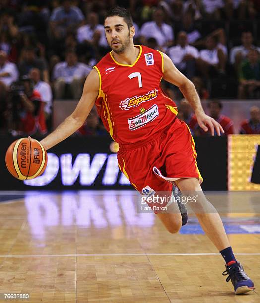 Juan Carlos Navarro of Spain in action during the FIBA EuroBasket 2007 qualifying round Group E match between Russia and Spain at the Telefonica...