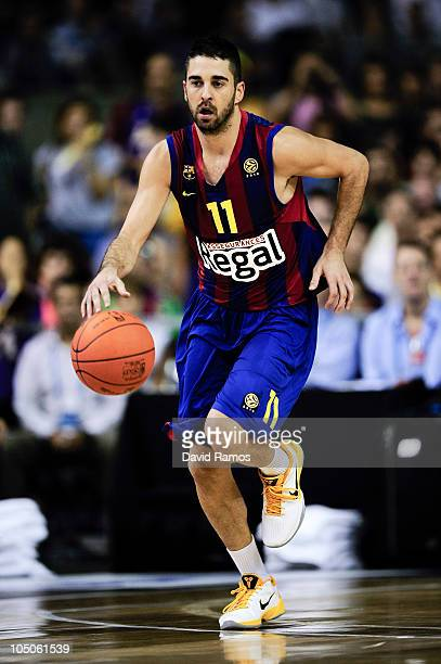 Juan Carlos Navarro of the Regal FC Barcelona in action during the NBA Europe Live match between Los Angeles Lakers and Regal FC Barcelona at the at...