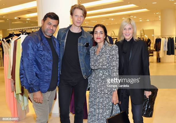 Juan Carlos Obando Justin Kern Stephanie Danan and Cindee Rood attend a Cocktail Event in support of HOLA Heart of Los Angeles hosted by Barneys New...
