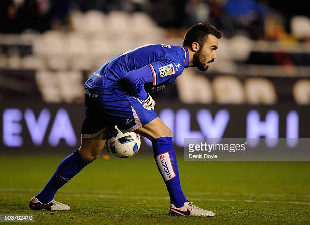 Juan Carlos of Rayo Vallecano de Madrid in action during the Copa del Rey Round of 16 First Leg match between Rayo Vallecano de Madrid and Club...