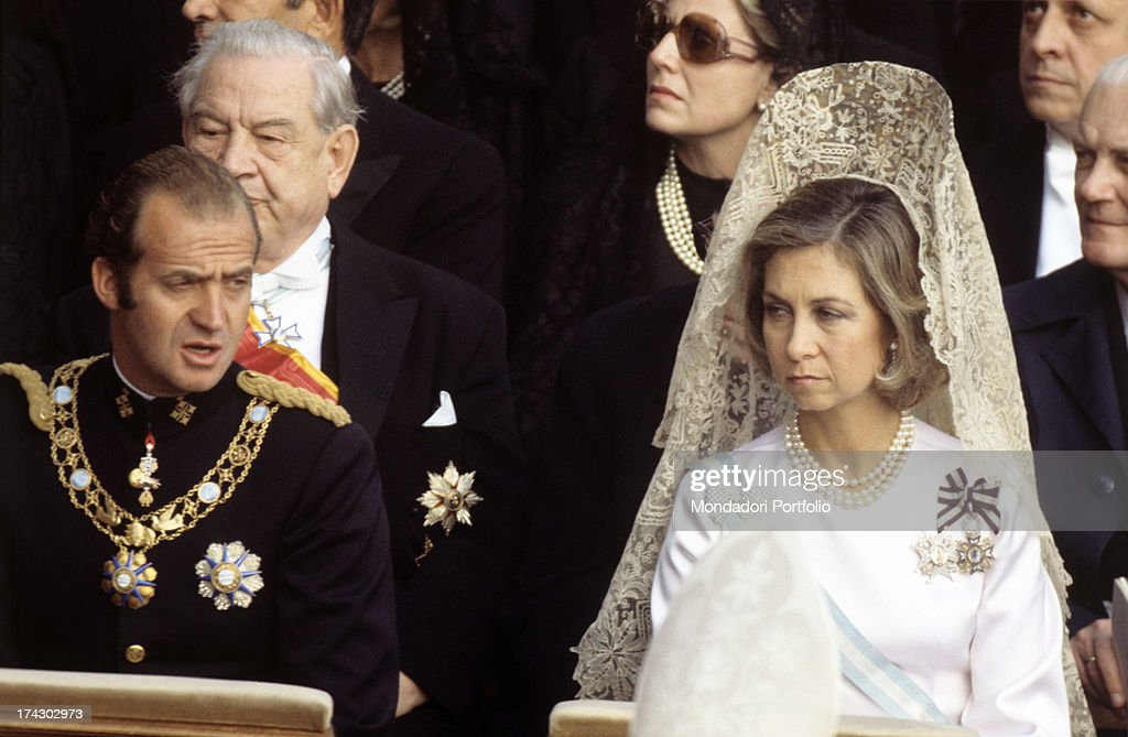 Juan Carlos And His Wife Sophia Of Greece : News Photo