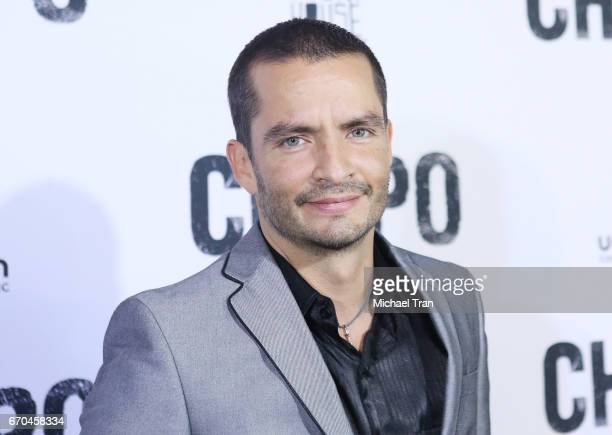 Juan Carlos Olivas arrives at the Los Angeles premiere of Univison's El Chapo hel at Landmark Theatre on April 19 2017 in Los Angeles California