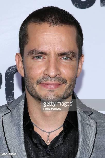 Juan Carlos Olivas attends the premiere of Univison's El Chapo at Landmark Theatre on April 19 2017 in Los Angeles California