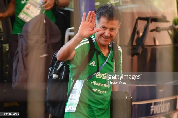 Juan Carlos Osorio coach of Mexico arrives at Renaissance Hotel on June 30 2018 in Samara Russia