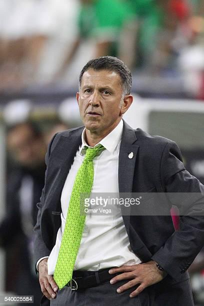 Juan Carlos Osorio coach of Mexico reacts during a group C match between Mexico and Venezuela at NRG Stadium as part of Copa America Centenario US...