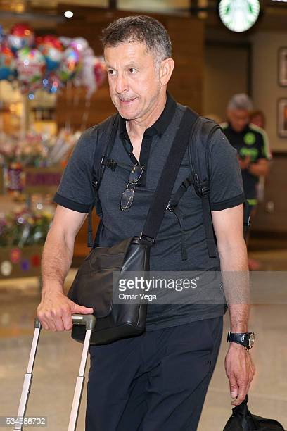 Juan Carlos Osorio coach of Mexico walks during the Mexico National Team arrival to United States at HartsfieldJackson International Airport on May...