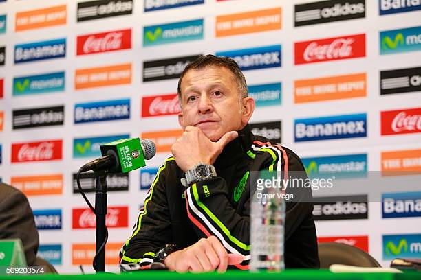 Juan Carlos Osorio head coach of Mexico gestures during a press conference on February 08 2016 in Miami United States