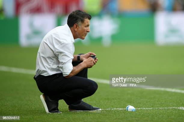 Juan Carlos Osorio Manager of Mexico looks on during the 2018 FIFA World Cup Russia group F match between Korea Republic and Mexico at Rostov Arena...
