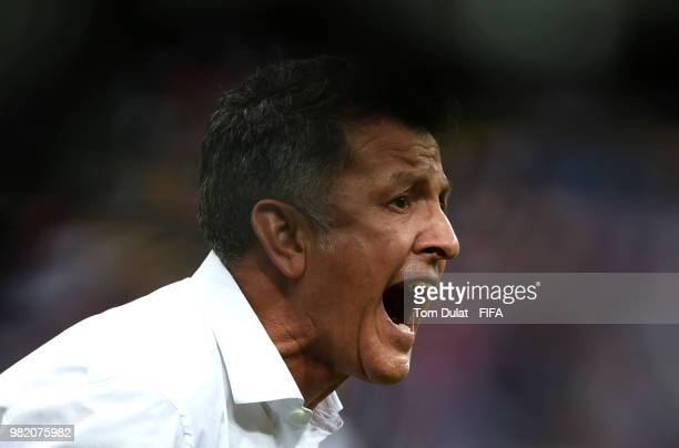 Juan Carlos Osorio Manager of Mexico reacts during the 2018 FIFA World Cup Russia group F match between Korea Republic and Mexico at Rostov Arena on...