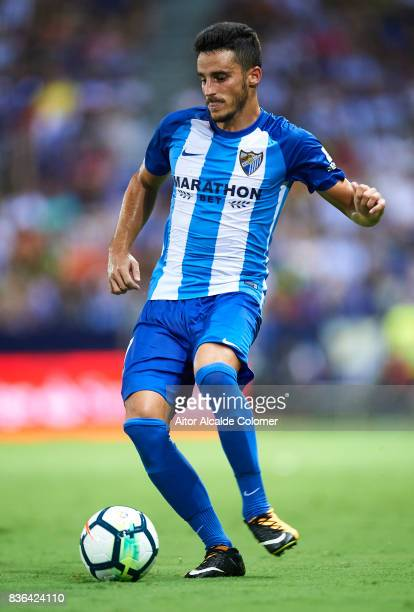 Juan Carlos Perez of Malaga CF in action during the La Liga match between Malaga and Eibar at Estadio La Rosaleda on August 21 2017 in Malaga