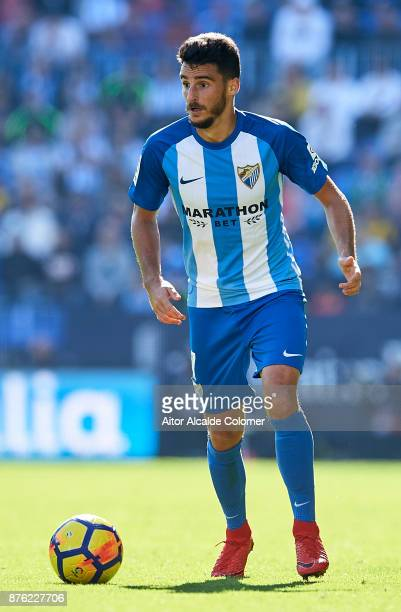 Juan Carlos Perez of Malaga CF in action during the La Liga match between Malaga and Deportivo La Coruna at Estadio La Rosaleda on November 19 2017...