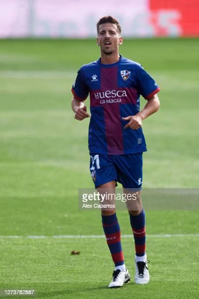 Juan Carlos Real of SD Huesca looks on during the La Liga Santander match between SD Huesca and Cadiz CF at Estadio El Alcoraz on September 20 2020...