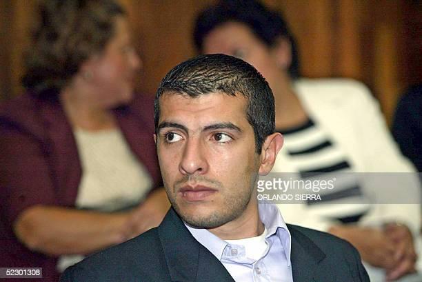 Juan Carlos Rios sobrino del ex dictador Efrain Rios Montt permanece el 08 de marzo de 2005 en la Sala de Vista de la Corte Suprema de Justicia de...
