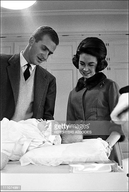Juan Carlos Sofia and Elena ESP in Spain on January 14th 1964