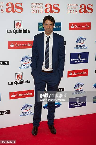 Juan Carlos Valeron attends 'As Del Deporte' awards 2015 photocall at Palace Hotel on December 14 2015 in Madrid Spain