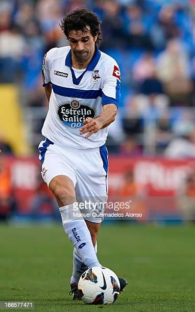 Juan Carlos Valeron of Deportivo de La Coruna in action during the la Liga match between Levante UD and RC Deportivo de La Coru–a at Ciutat de...