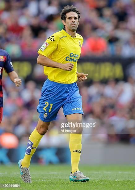 Juan Carlos Valeron of Las Palmas during the Primera Division match between FC Barcelona and Las Palmas on September 26 2015 at Camp Nou stadium in...