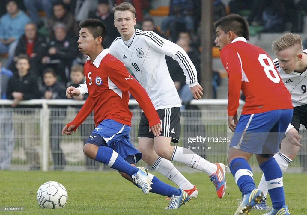 Juan Carlos Vargas of Chile during the International Friendly match between U16 Germany and U16 Chile on March 26, 2013 in La Roche-sur-Yon, France.